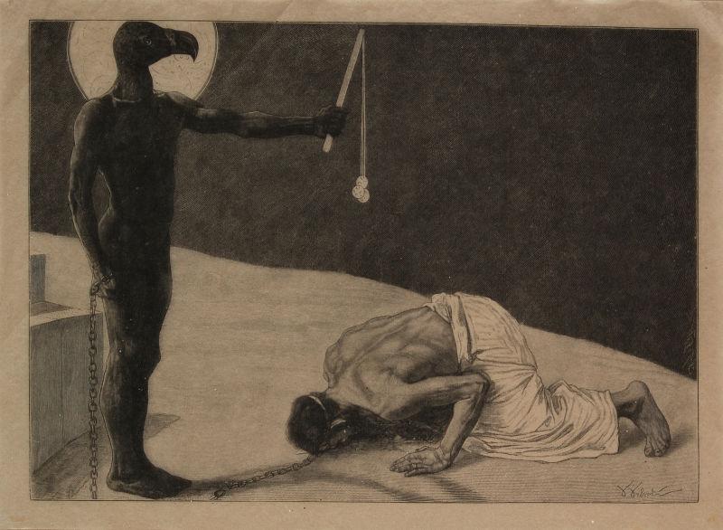 Sascha_Schneider_Der_Mammon_und_sein_Sklave