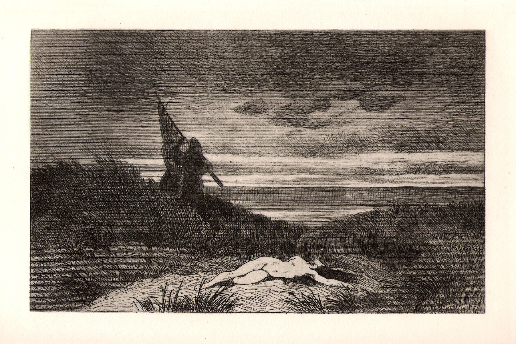 Félicien_Rops_-_Le_Werwolf_-_original_etching