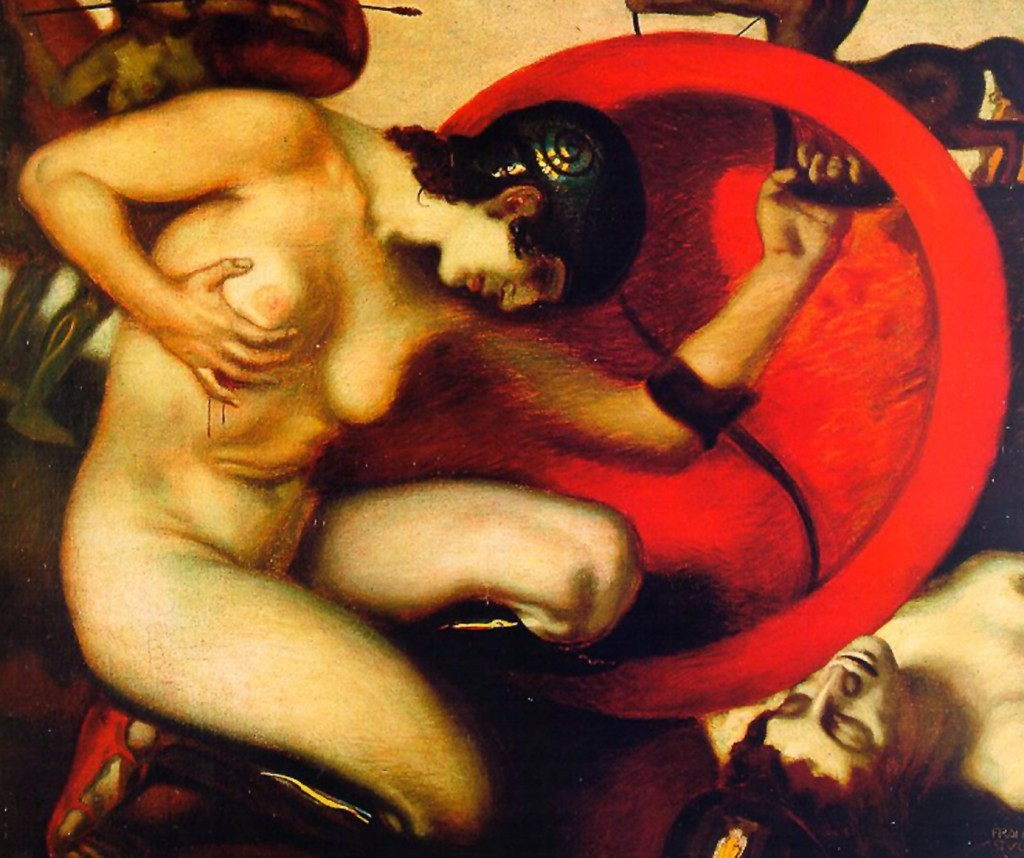 Franz_von_Stuck_-Wounded_Amazon,_1903