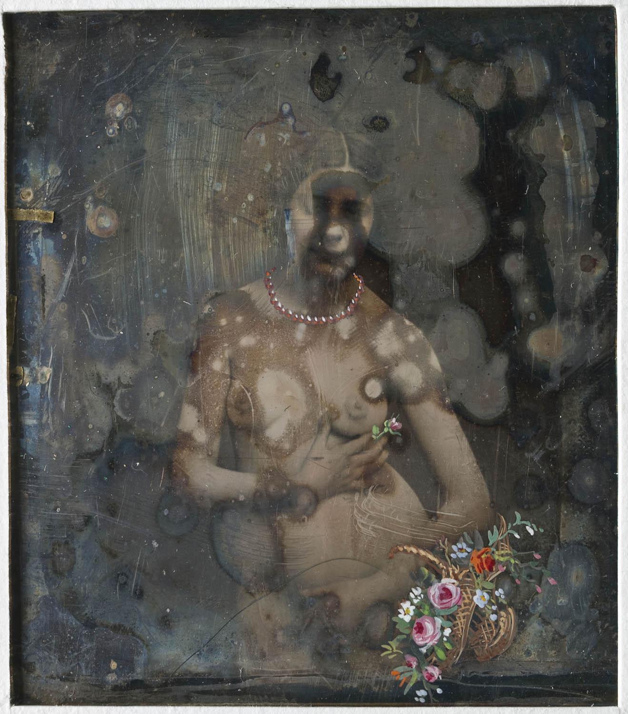 Handkolorerad_stereoskopbild_av_stående_naken_kvinna,_ca_1855_-_Nordiska_Museet_-_NMA.0052931_1
